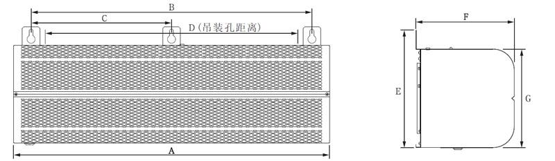 水暖风幕机安装尺寸