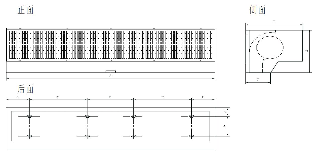 工业防爆风幕机安装尺寸