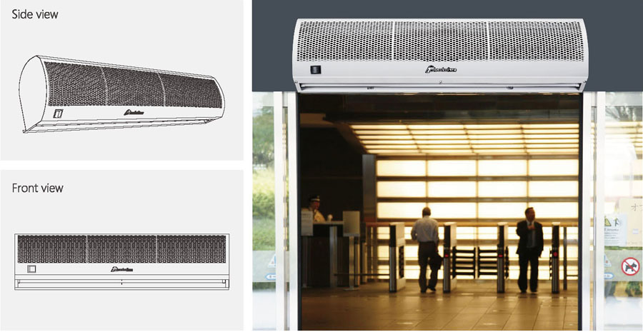 Harmony wind series air curtain