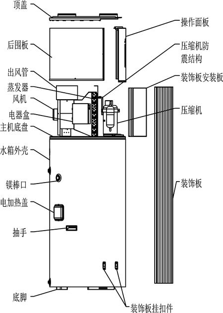 热水器接法示意�_空气能热水器x9结构示意图